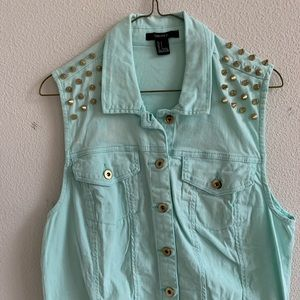 Turquoise Forever 21 Vest
